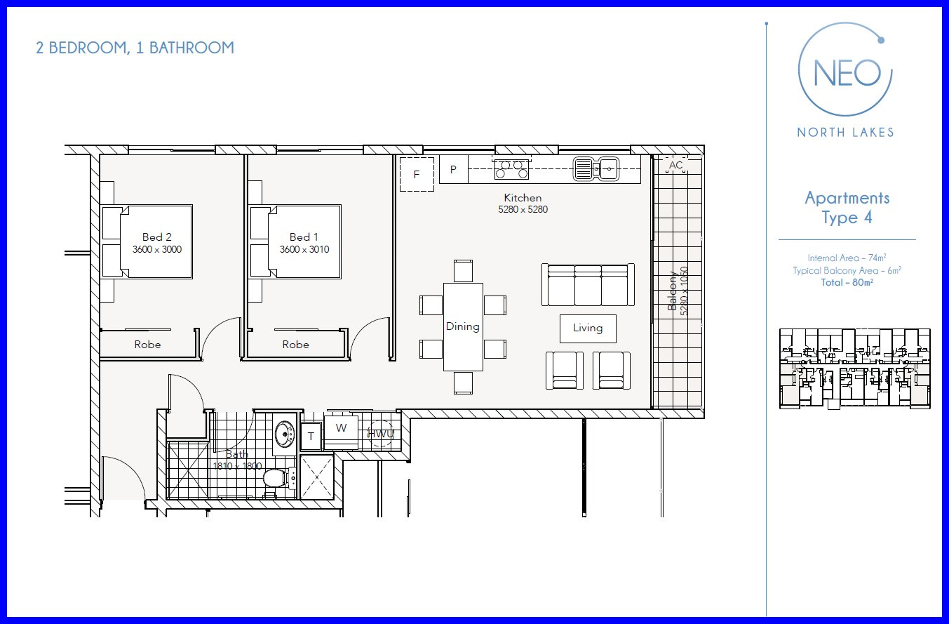 Two bedroom apartment floor plans neo north lakes for Apartment building plans 2 units